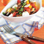<b>Restovaná zelenina se žampiony a mozzarellou</b>