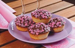 Srdíčkové muffiny