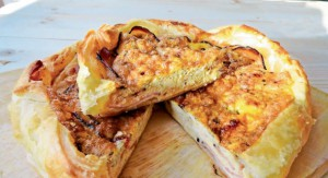 Vaječný koláč se slaninou