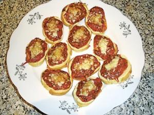 rajčatové bagetky