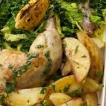 <b>Zapečené kuře s bramborami a kapustou</b>