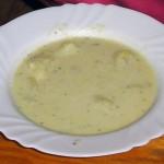 <b>Bílá polévka s vejcem</b>