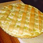 <b>Rebarborový koláč s pudinkem a tvarohem</b>