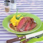 <b>Grilovaný steak s polentou</b>